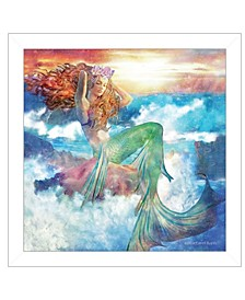 Trendy Decor 4u Sunset Mermaid by Bluebird Barn, Ready to Hang Framed Print Collection