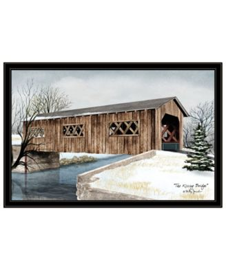 The Kissing Bridge by Billy Jacobs, Ready to hang Framed Print, White Frame, 38