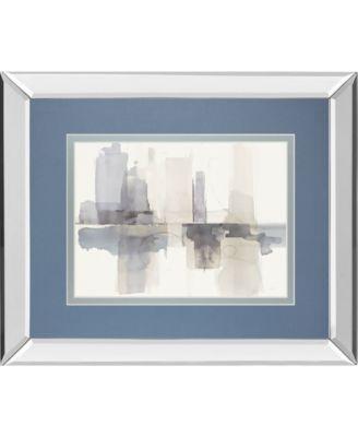 Improvisation I Gray Crop by Mike Schick Mirror Framed Print Wall Art - 34