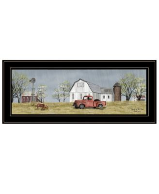 Spring On The Farm by Billy Jacobs, Ready to hang Framed Print, Black Frame, 39
