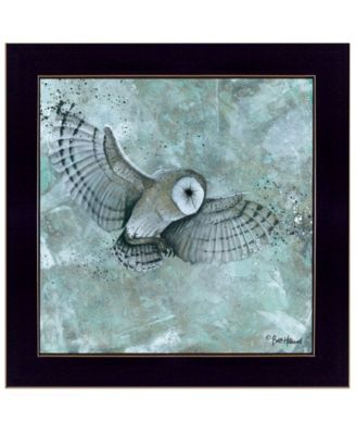 Simplicity Owl by Britt Hallowell, Ready to hang Framed Print, White Frame, 15