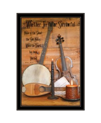 Music by Billy Jacobs, Ready to hang Framed Print, Black Frame, 23