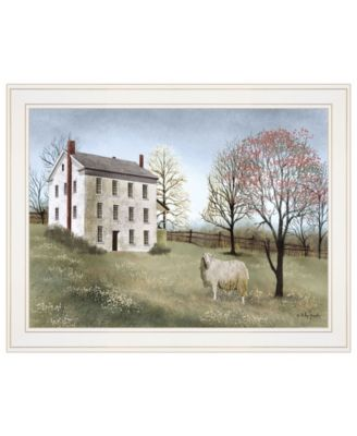 Spring at White House Farm by Billy Jacobs, Ready to hang Framed Print, White Frame, 21