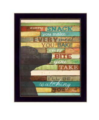 I'll Be Watching You By Marla Rae, Printed Wall Art, Ready to hang, Black Frame, 10