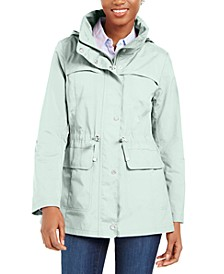 Packable Hooded Water-Resistant Anorak Coat