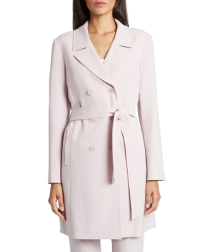 Tahari Asl Belted Trench Jacket