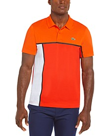 Men's Sport Short Sleeve Colorblock Cotton Polo Shirt