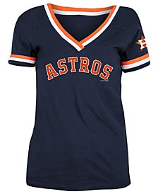 Houston Astros Women's Contrast Binding T-Shirt