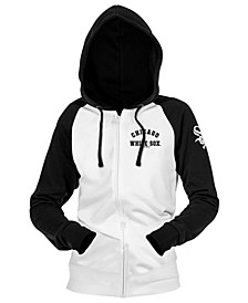 Chicago White Sox Women's Zip-Up Contrast Hoodie