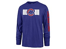 Chicago Cubs Men's Cross Stripe Long Sleeve T-Shirt