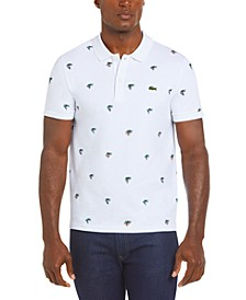 Men's Croco Series Jean-Michel Tixier Stretch Polo Shirt with Exclusive Croc Pattern