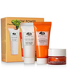 3-Pc. Glow Power Cleansing, Hydrating & Radiance-Boosting Set