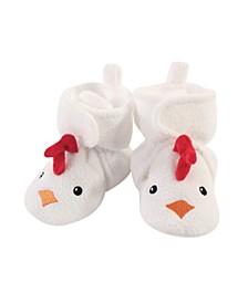 Baby Girls and Boys Chicken Cozy Fleece Booties