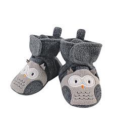 Hudson Baby Baby Girls and Boys Owl Cozy Fleece Booties