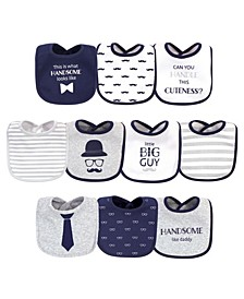 Baby Girls and Boys Handsome Like Daddy Bibs, Pack of 10