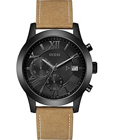 Limited Edition Men's Tan Strap Watch 45mm