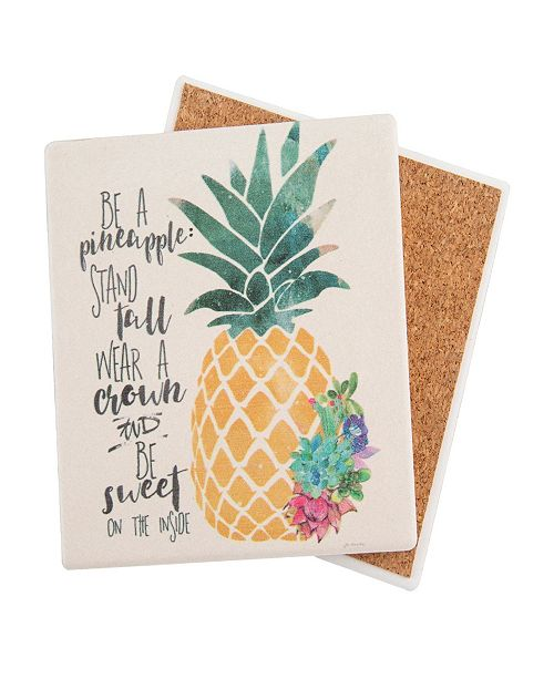 Thirstystone Be A Pineapple Coaster Reviews Serveware Dining Macy S