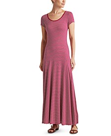 Cotton-Blend Maxi Dress