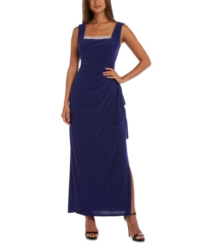 R & M Richards Petite Embellished Gown & Jacket & Reviews - Dresses - Petites - Macy's