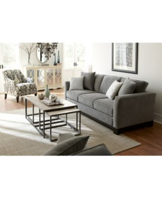 kenton fabric living room chair, created for macy's - furniture