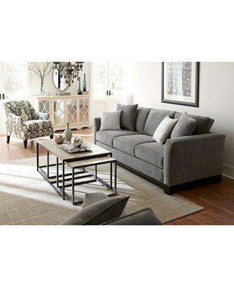 Macy's Living Room Furniture Kenton Fabric Sofa Created For Macy's  Furniture  Macy's