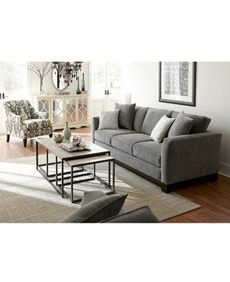 Macys Living Room : Kenton Fabric Sofa Living Room Furniture Collection ...
