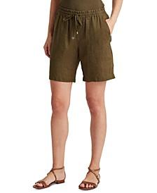 Drawcord Linen Shorts