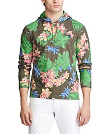 Men's Floral Jersey Hooded T-Shirt