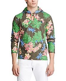 Men's Tropical Print Hooded T-Shirt