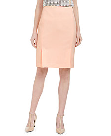 Calvin Klein Front-Slit Pencil Skirt