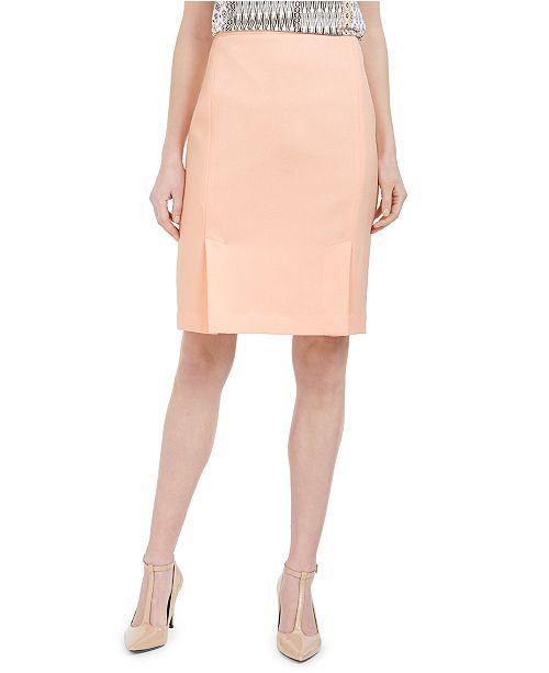 Calvin Klein Front-Slit Pencil Skirt