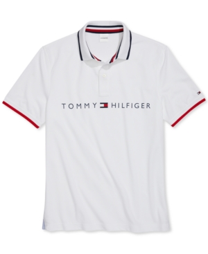 Tommy Hilfiger Adaptive Men's Custom-Fit Polo Shirt with Magnetic Buttons