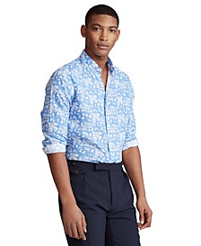 Men's Classic-Fit Tropical Linen Shirt