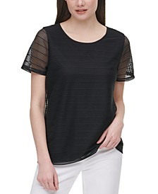 Sheer-Stripe Top