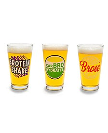 Beer Bro's Beer Glass - Set of 3