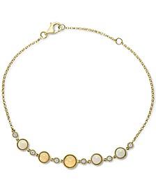 EFFY® Opal (7/8 ct. t.w.) & Diamond (1/8 ct. t.w.) Bracelet in 14k Gold