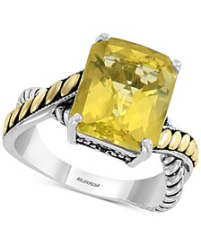 EFFY® Lemon Quartz (5-5/8 ct. t.w.) Ring in Sterling Silver & 18k Gold
