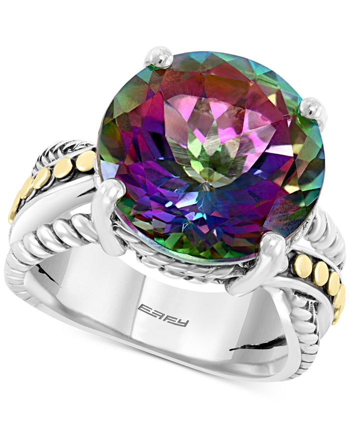 EFFY Collection - Mystic Topaz Statement Ring (12-5/8 ct. t.w.) Ring in Sterling Silver & 18k Gold