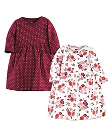 Baby Toddler Girls Fall Floral Dresses, Pack of 2