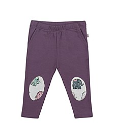 Baby Girls Majestic Elephant Plum Patch Trouser