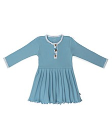 Baby Girls Sailboat Three Button Dress