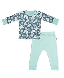Baby Boys and Girls Snow Bears Loungewear Set