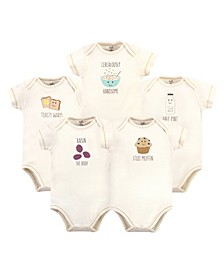 Baby Girls and Boys Muffin Bodysuits, Pack of 5