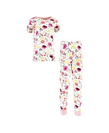Toddler Girls and Boys Botanical Tight-Fit Pajama Set, Pack of 2