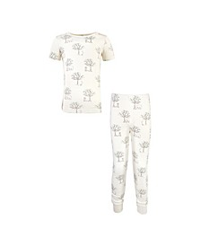 Toddler Girls and Boys Birch Trees Tight-Fit Pajama Set, Pack of 2