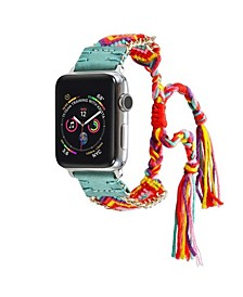 Men's and Women's Apple Teal Friendship Cotton, Stainless Steel Replacement Band 40mm