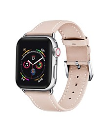 Men's and Women's Apple Pink Leather Replacement Band 40mm