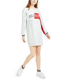 Logo-Print Sweatshirt Dress