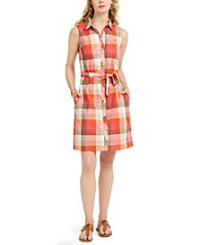 Buffalo Plaid Cotton Shirtdress