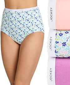 Plus Size Classics Brief Underwear 3 Pack 9483